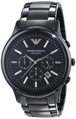 Emporio Armani Herren-Armbanduhr Chronograph Quarz Keramik AR1451 -