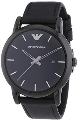 Emporio Armani Herren-Armbanduhr XL Analog Quarz Leder AR1732 -