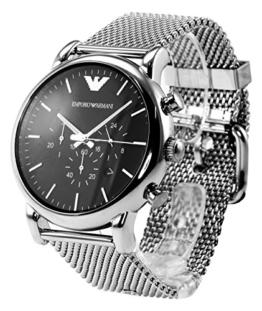 Emporio Armani Herren-Armbanduhr XL Chronograph Quarz Edelstahl AR1808 -