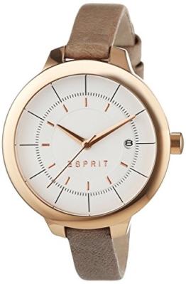 Esprit Damen-Armbanduhr Analog Quarz (One Size, weiß/rosegold) ES108192003 -