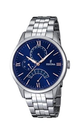 Festina Herren-Armbanduhr Analog Quarz Edelstahl F16822/3 -