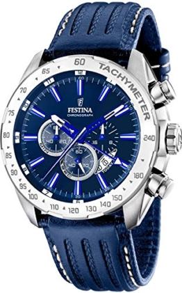 Festina Herren-Armbanduhr Analog Quarz Leder F16489/B -