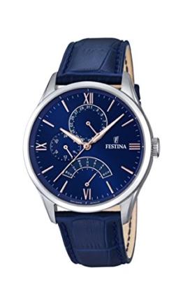 Festina Herren-Armbanduhr Analog Quarz Leder F16823/3 -