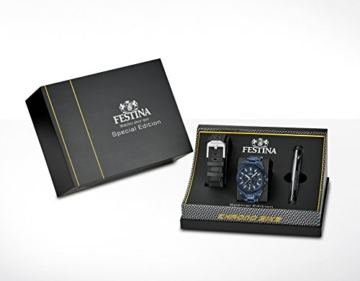 Festina Herren-Armbanduhr Chronograph Quarz Edelstahl beschichtet F16973/1 -