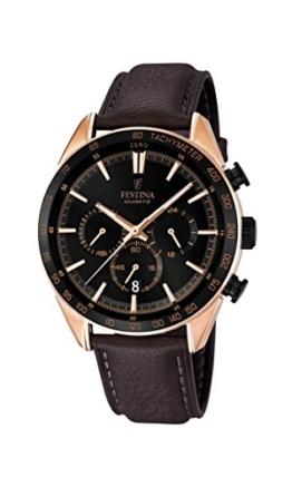 Festina Herren-Armbanduhr Chronograph Quarz Leder F16846/1 -