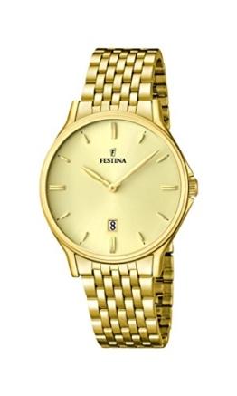 Festina Herren-Armbanduhr XL Analog Quarz Edelstahl F16746/2 -