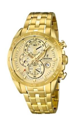 Festina Herren-Armbanduhr XL Chronograph Quarz Edelstahl beschichtet F16656/2 -