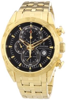 Festina Herren-Armbanduhr XL Chronograph Quarz Edelstahl beschichtet F16656/5 -
