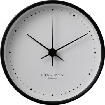 Hk Clock Black/White 22Cm -