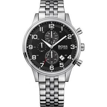 Hugo Boss Herren-Armbanduhr Analog Quarz Edelstahl 1512446 -