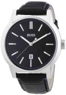 Hugo Boss Herren-Armbanduhr ARCHITECTURE ROUND Analog Quarz Leder 1512911 -