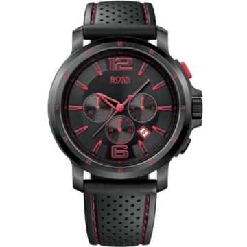 Hugo Boss Herren-Armbanduhr Chronograph Quarz Kautschuk 1512597 -