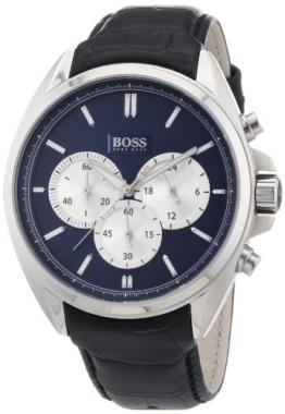 Hugo Boss Herren-Armbanduhr XL Chronograph Quarz Leder 1512882 -