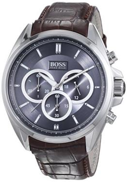 Hugo Boss Herren-Armbanduhr XL Driver Chronograph Quarz Leder 1513035 -