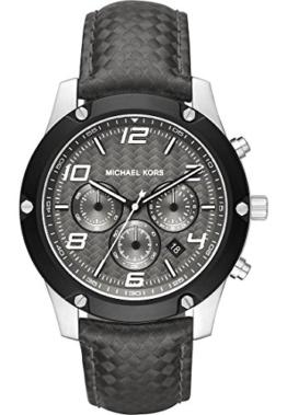 Michael Kors Herren-Armbanduhr Analog Quarz One Size, grau, grau -
