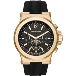 Michael Kors Herren-Armbanduhr Analog Quarz One Size, schwarzfarben, schwarz -