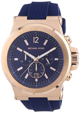 Michael Kors Herren-Armbanduhr XL Chronograph Quarz Silikon MK8295 -
