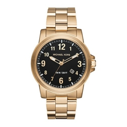 Michael Kors Herrenuhr Analog Quartz Edelstahl Gold MK8555 -