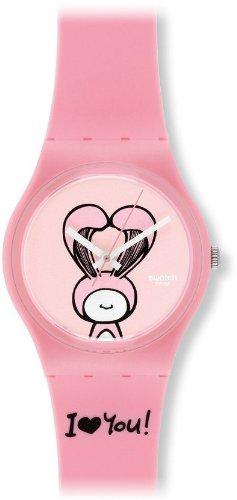 Swatch Mädchen-Armbanduhr Analog Plastik GZ265 -
