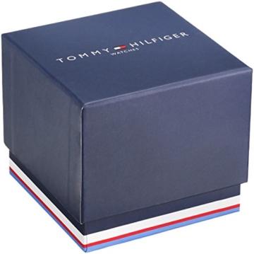 TOMMY HILFIGER HERREN 44MM CHRONOGRAPH SCHWARZ LEDER ARMBAND UHR 1790875 -