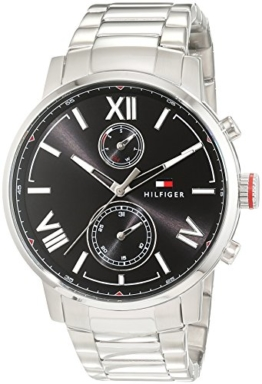 Tommy Hilfiger, Herren-Armbanduhr Sport Luxury Analog Quarz Edelstahl 1791307 -