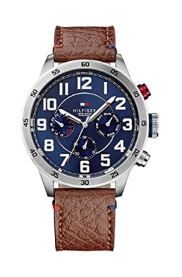 Tommy Hilfiger Watches Herren-Armbanduhr Analog Quarz Leder 1791066 -