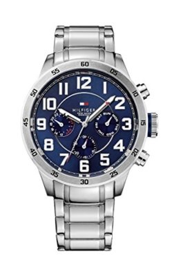 Tommy Hilfiger Watches Herren-Armbanduhr XL TRENT Analog Quarz Edelstahl 1791053 -