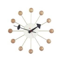 Vitra 201 250 02 Ball Wanduhr Durchmesser 33 cm, natur -