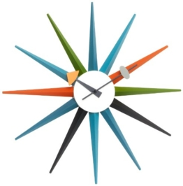 Vitra 20125301 Wanduhr Sunburst Clock 470 mm mehrfarbig -