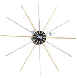 Vitra 20125901 Wanduhr Wall Clock George Nelson, 1955 610 mm Chrom / Messing -
