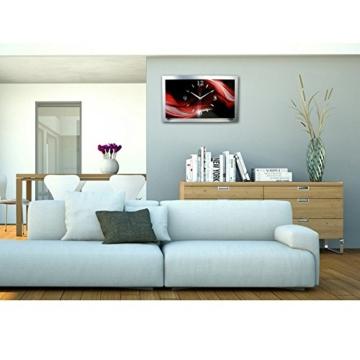 3D Abstrakt Designer Funk Wanduhr Funkuhr modernes Design * Made in Germany* WAA008F -