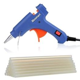 Blusmart Mini Heißklebepistole mit 25 Stück Klebesticks Klebepistole für DIY kleine Handwerkprojekte und schnelle Reparaturen zuhause im Heimwerker &Handwerk (blau, 20 Watt) -