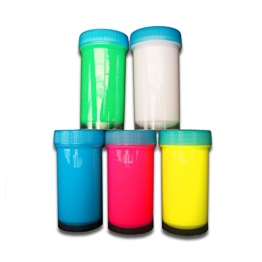 Eventlights NEON Farbe - UV Leuchtfarbe - Wandfarbe - Bastelfarbe - Schwarzlicht (5 x 50 ml, Farbmix) -