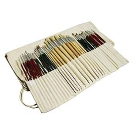 Feelily 36 Stück Pinsel Set Malen Bürsten Art Set- Künstler Öl Aquarell Pinselset Acryl mit kostenlosen Beutel -