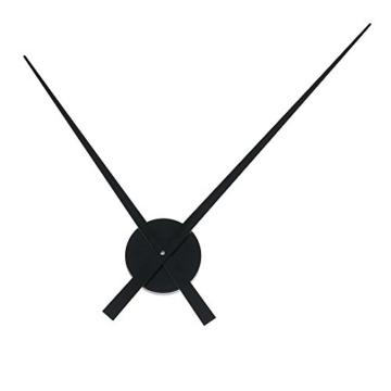 HAB & GUT (A012) schlichte Wanduhr ohne Zahlen/Ziffern BIG TIME, hochwertiges Quarzwerk, Umlauf 90 cm, Aluminium, schwarz -