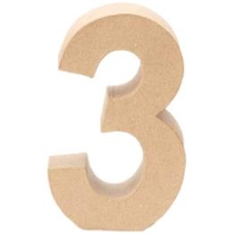 Papp-Zahl 3, 17,5x5,5cm [Spielzeug] -
