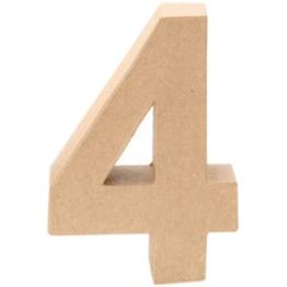 Papp-Zahl 4, 17,5x5,5cm [Spielzeug] -