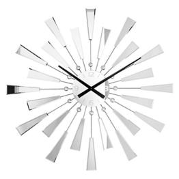 Riesige Spiegel Wanduhr REFLECTIONS mit Kristallen 90cm -