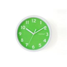 """Decowall DSH-S22GN 8.8"""" Nicht-tickende Stille Modern Wanduhr DIY für Wohnzimmer Küche Büro (22.5cm, Grün) - 1"""