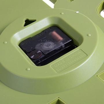 GMMH 3 D Design Moderne Wanduhr 8808 Küchenuhr Baduhr Bürouhr Dekoration ruhig (grün weiß) - 3