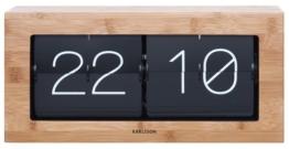 Karlsson KA5642WD Tisch -/Wanduhr XL - Flip Clock - Holz 17,5 x 37 x 9 cm - 1