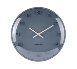 Karlsson KA5649BL - Wanduhr - Elevated - blau - Metall/Glas - Ø 25 cm - 1