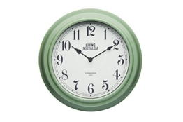 Kitchen Craft Living Nostalgia Analog Wanduhr, Plastik, Grün, 7.5 x 25.5 x 25.5 cm - 1