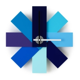 Normann Copenhagen Wanduhr, Stahl, Blau, 28.5 x 28.5 x 28.5 cm - 1