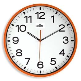 Orium Wanduhr lautlos 11679, Durchmesser 30 cm,Orange - 1