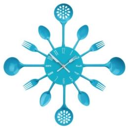Premier Housewares 2200667 Besteck Wanduhr, blau - 1