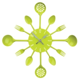 Premier Housewares 2200669 Besteck Wanduhr,grün - 1