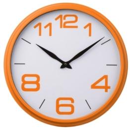 Premier Housewares 2200704 Wanduhr, Kunststoffrahmen, Orange - 1