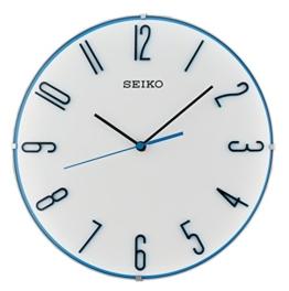 Seiko Unisex Wanduhren Kunststoff Blau QXA672W - 1