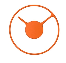 Stelton 852-3 Time Wanduhr, medium, Edelstahl mit metal überfläche, orange, 22 cm - 1